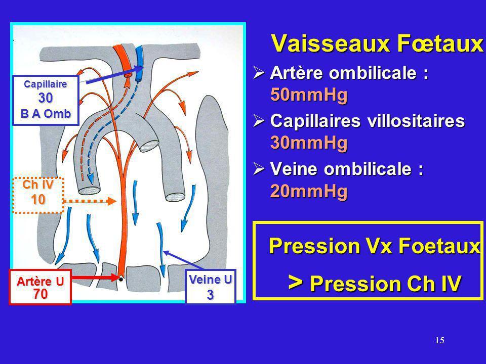 > Pression Ch IV Pression Vx Foetaux Vaisseaux Fœtaux