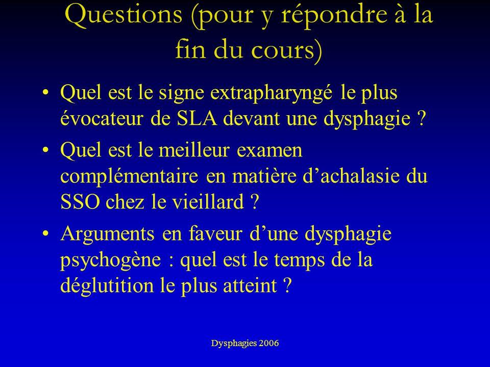 Questions (pour y répondre à la fin du cours)