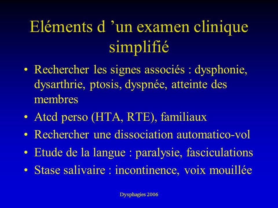 Eléments d 'un examen clinique simplifié