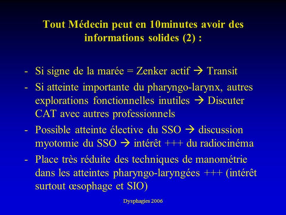 Tout Médecin peut en 10minutes avoir des informations solides (2) :