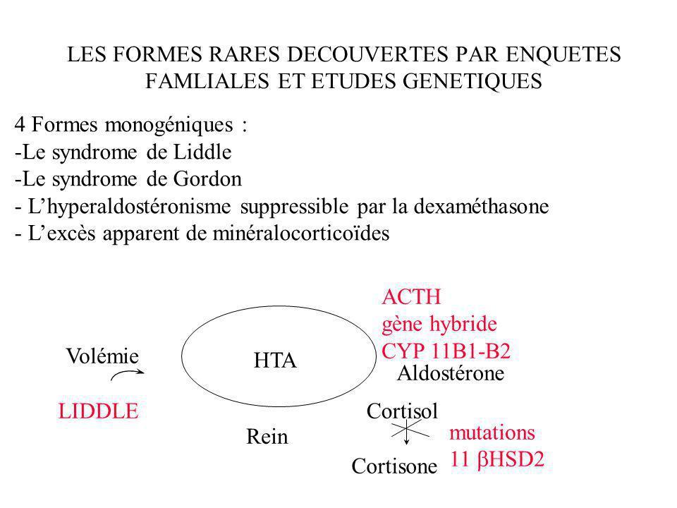 LES FORMES RARES DECOUVERTES PAR ENQUETES FAMLIALES ET ETUDES GENETIQUES
