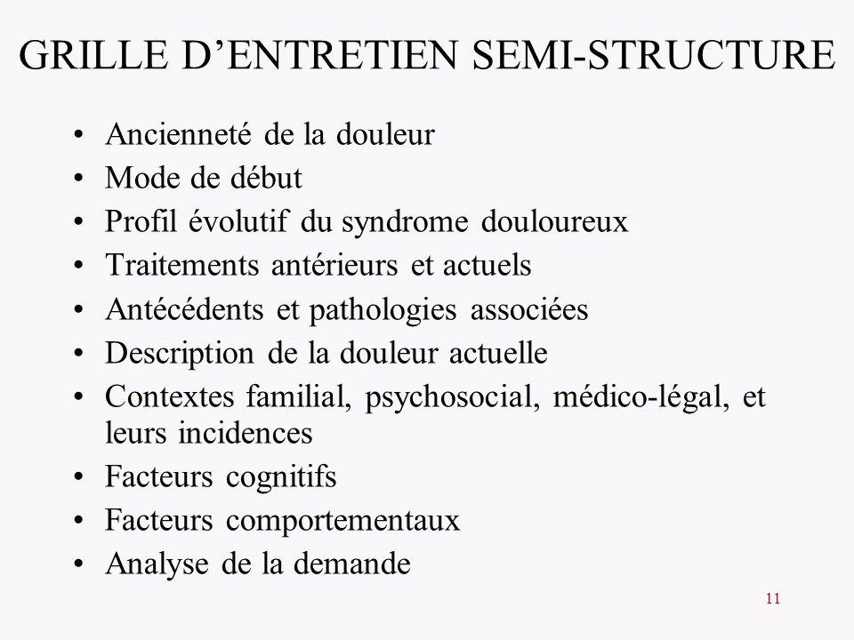 GRILLE D'ENTRETIEN SEMI-STRUCTURE