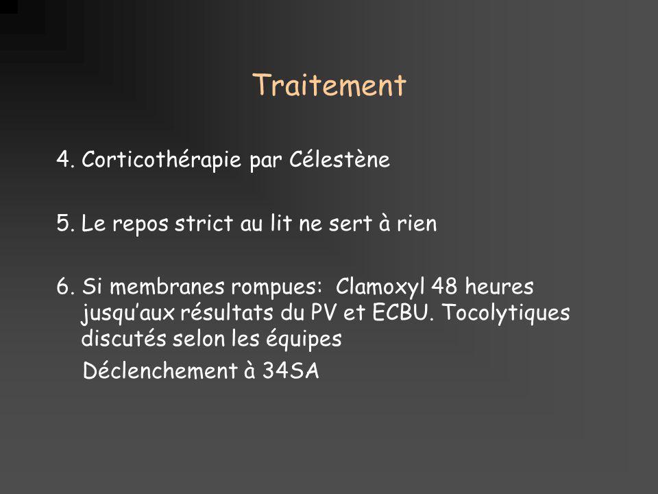 Traitement 4. Corticothérapie par Célestène