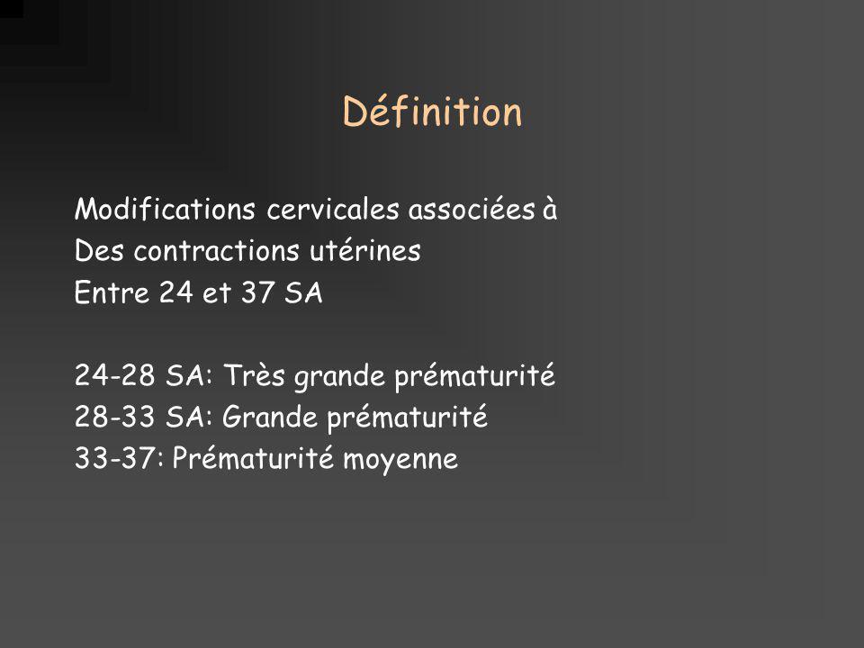 Définition Modifications cervicales associées à