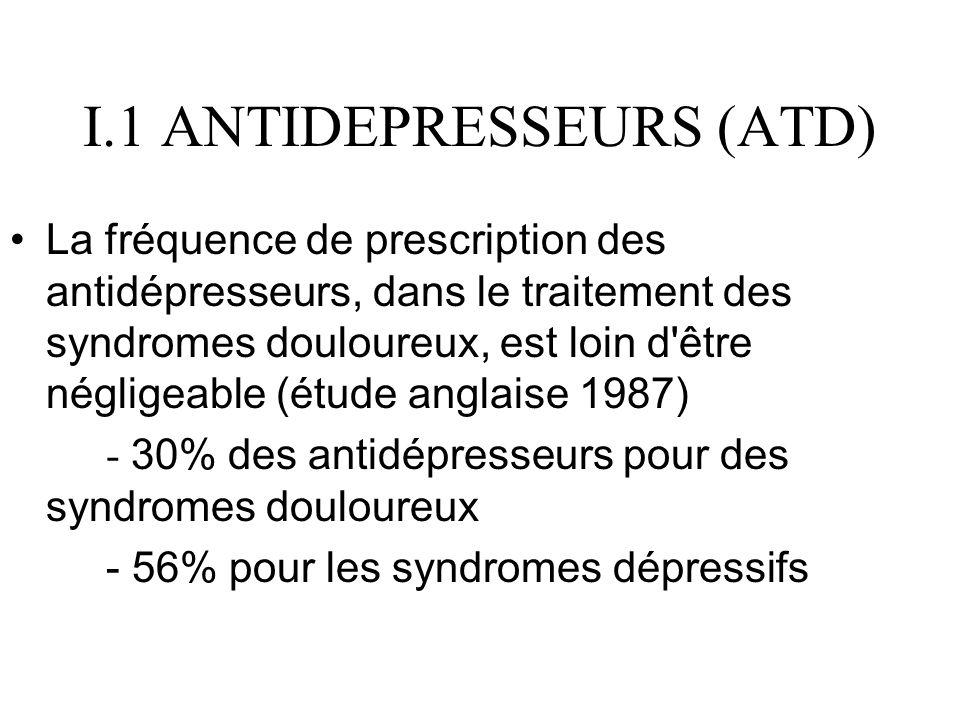I.1 ANTIDEPRESSEURS (ATD)