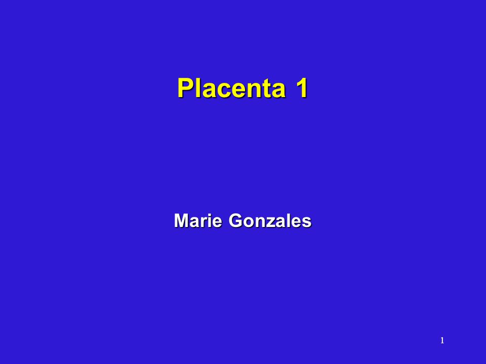 Placenta 1 Marie Gonzales