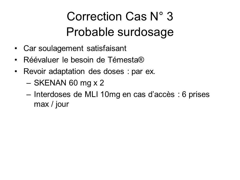 Correction Cas N° 3 Probable surdosage