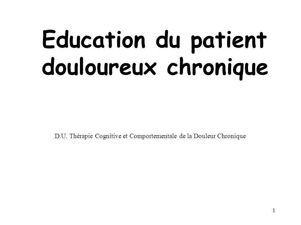 Education du patient douloureux chronique