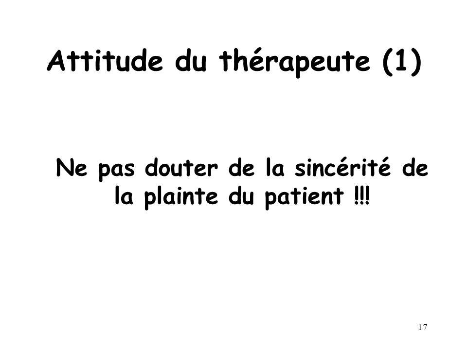 Attitude du thérapeute (1)