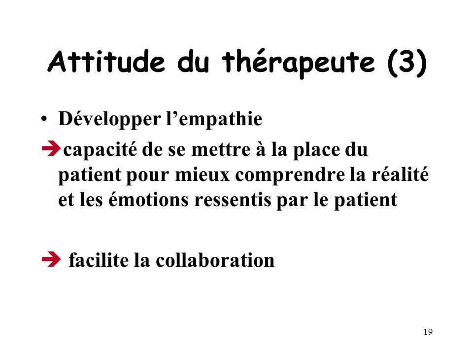 Attitude du thérapeute (3)