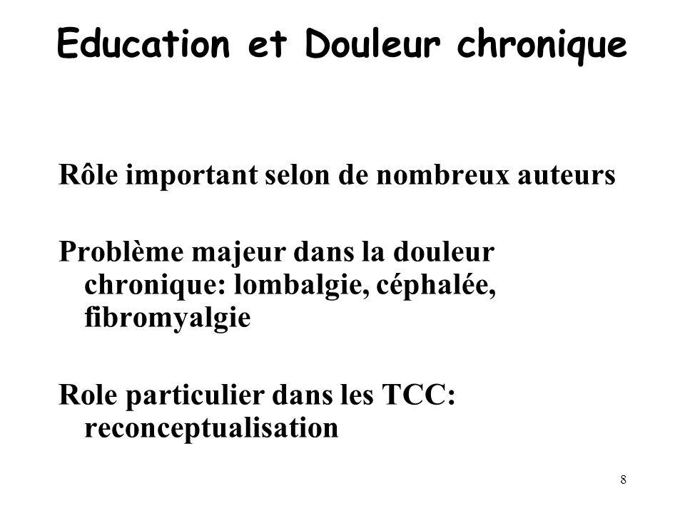 Education et Douleur chronique