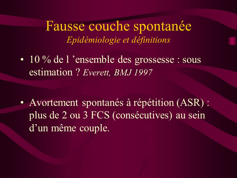 Fausse couche spontan e ppt t l charger - Fausse couche precoce 2 semaines ...