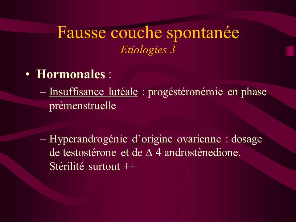 Fausse couche spontanée Etiologies 3