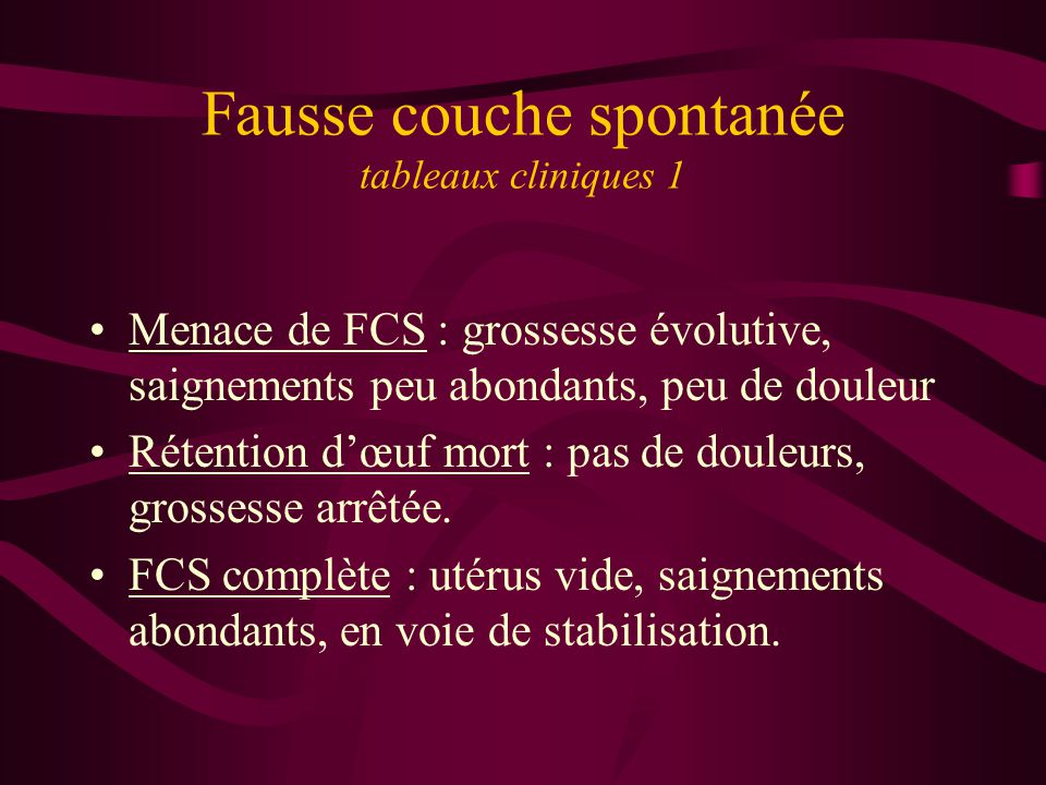 Fausse couche spontan e ppt t l charger - Fausse couche 8 semaines ...
