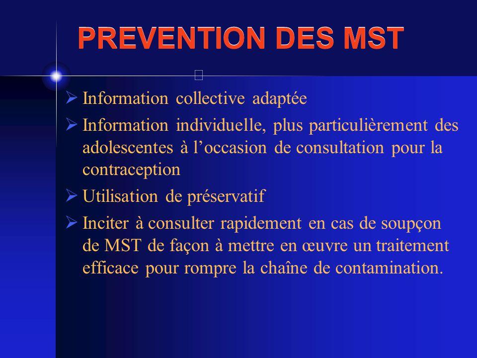 PREVENTION DES MST Information collective adaptée