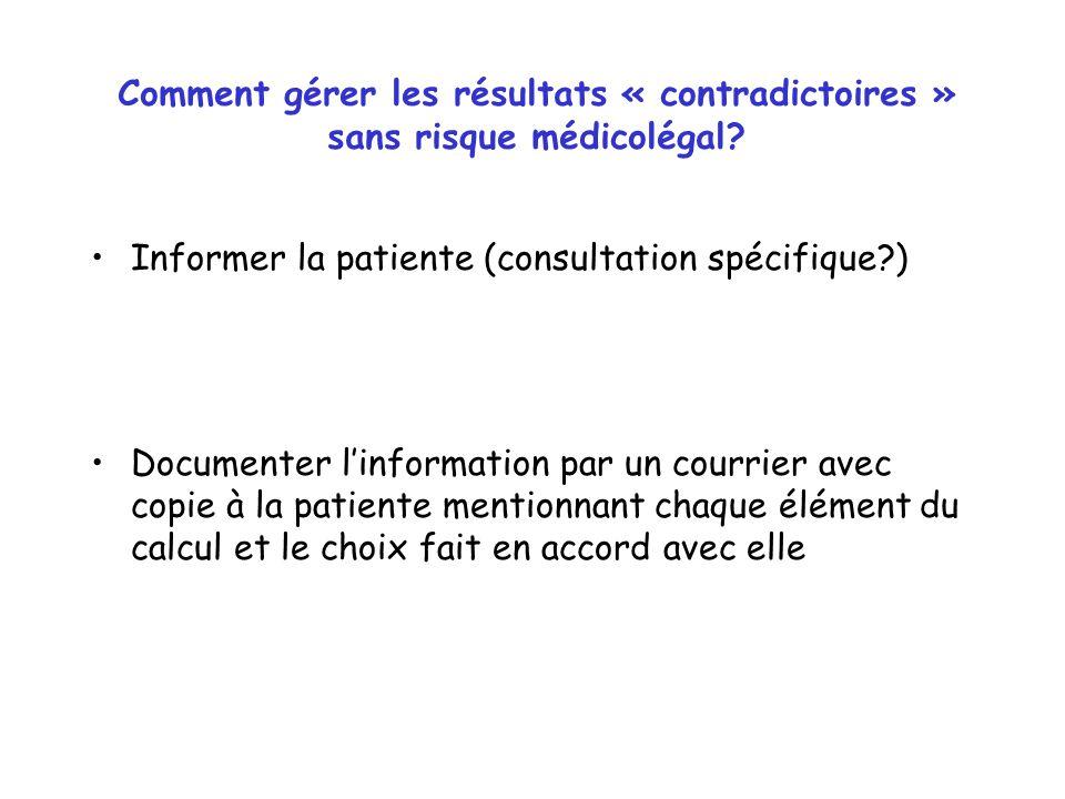Comment gérer les résultats « contradictoires » sans risque médicolégal