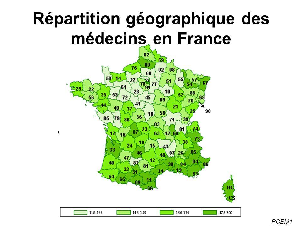 Répartition géographique des médecins en France