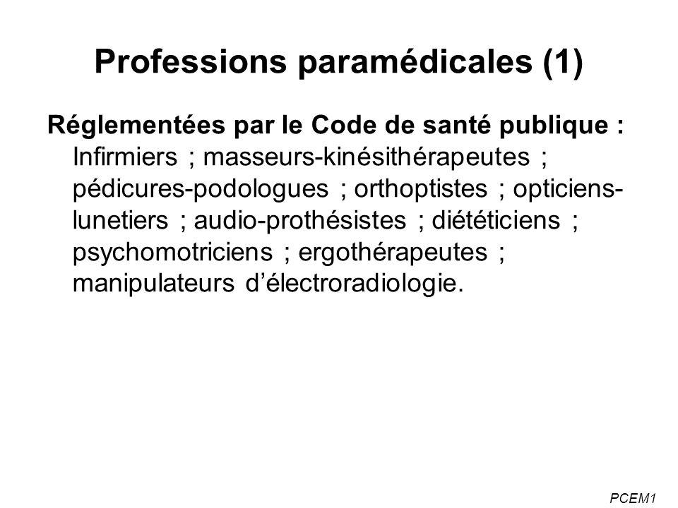 Professions paramédicales (1)