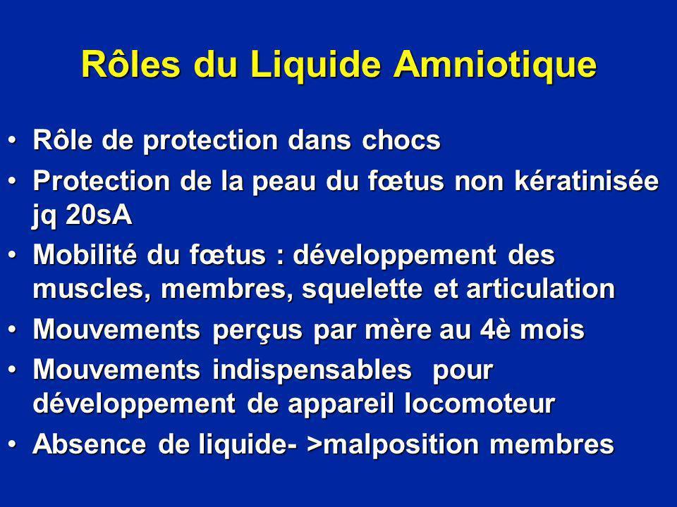 Rôles du Liquide Amniotique