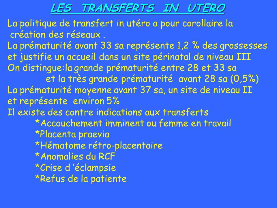 LES TRANSFERTS IN UTERO