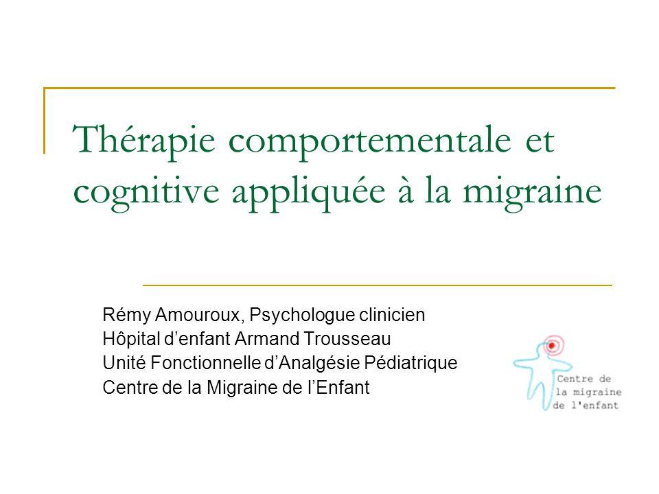 Thérapie comportementale et cognitive appliquée à la migraine
