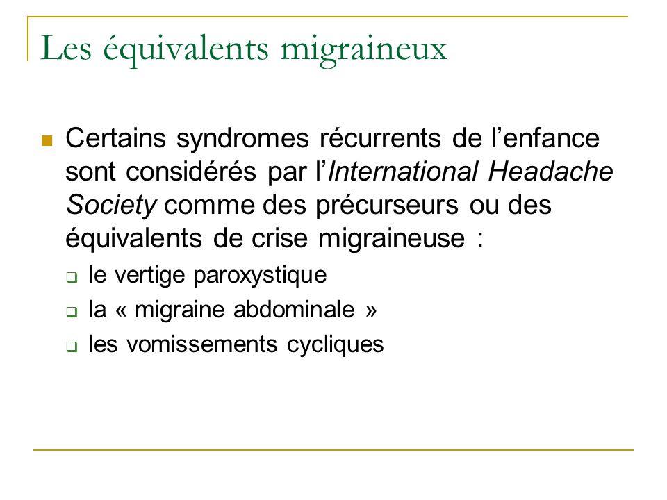 Les équivalents migraineux