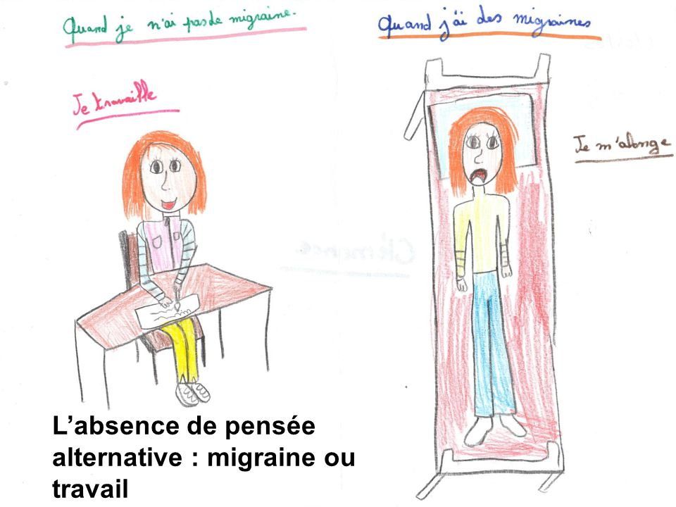 L'absence de pensée alternative : migraine ou travail