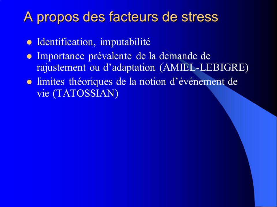 A propos des facteurs de stress