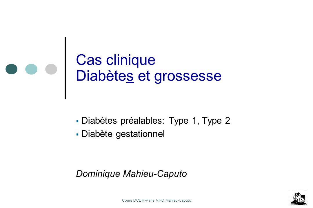 Cas clinique Diabètes et grossesse