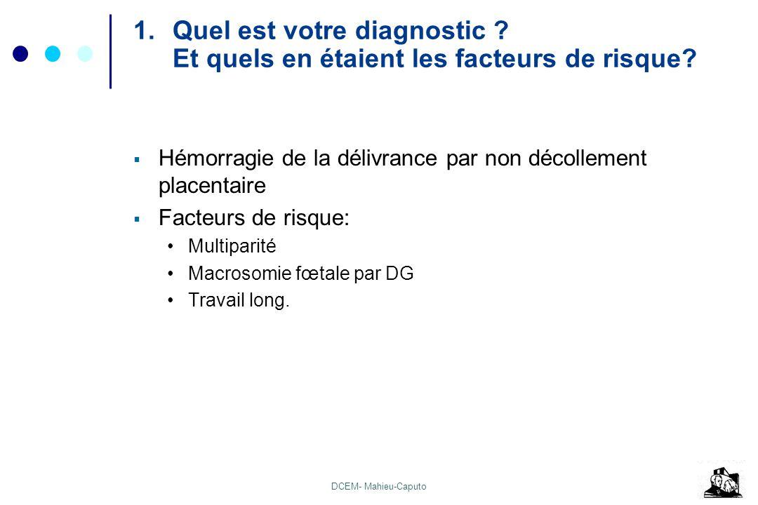 Quel est votre diagnostic Et quels en étaient les facteurs de risque