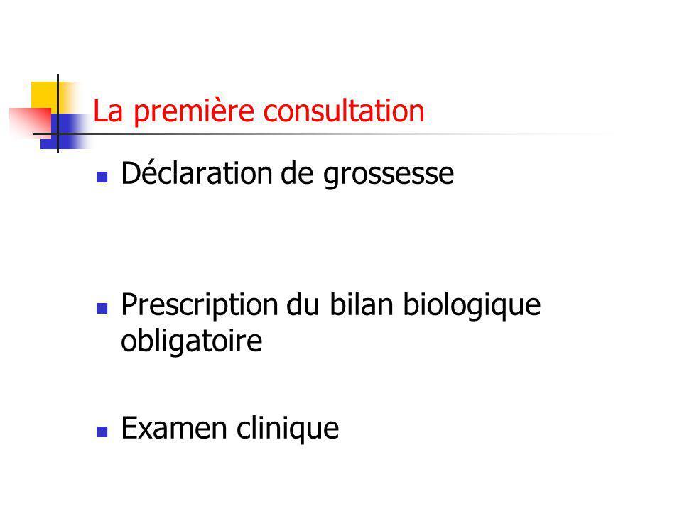 La première consultation