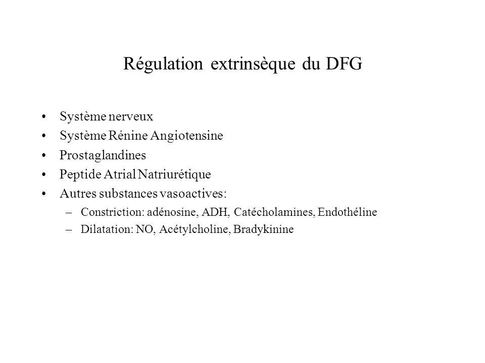 Régulation extrinsèque du DFG