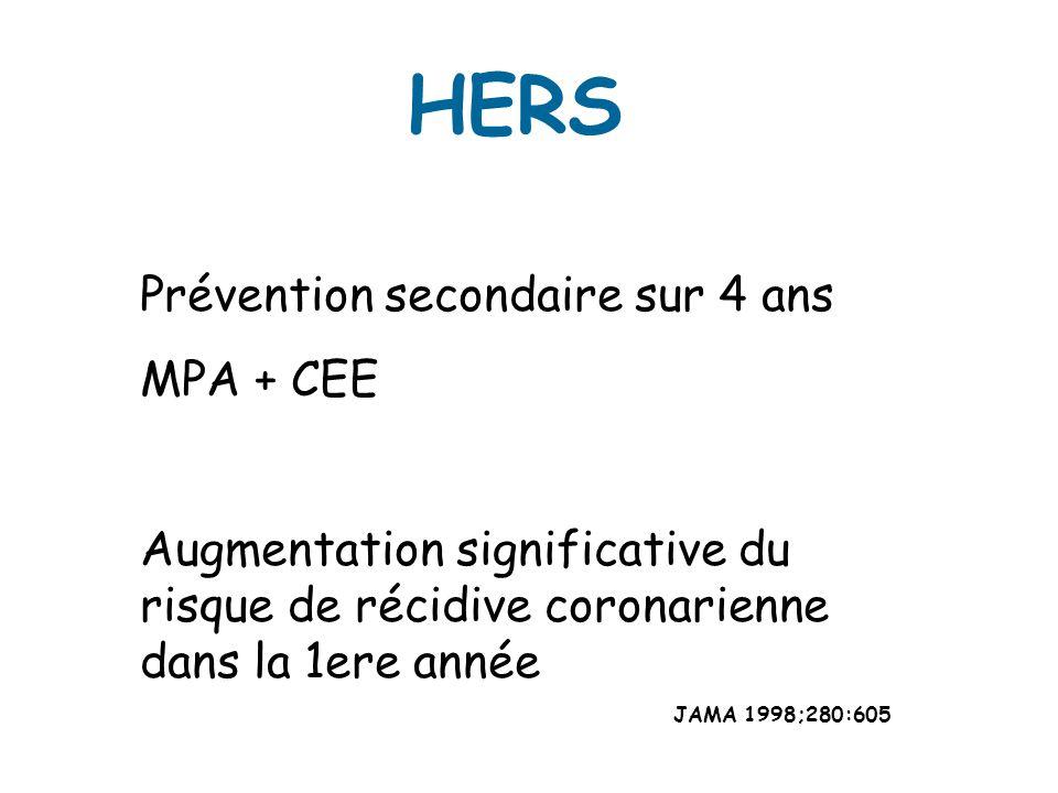 HERS Prévention secondaire sur 4 ans MPA + CEE