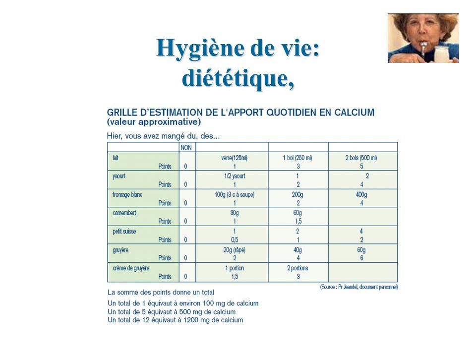 Hygiène de vie: diététique,