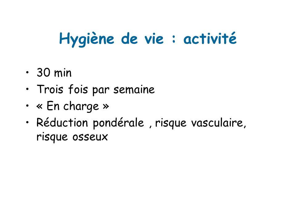 Hygiène de vie : activité