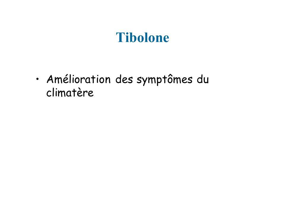 Tibolone Amélioration des symptômes du climatère