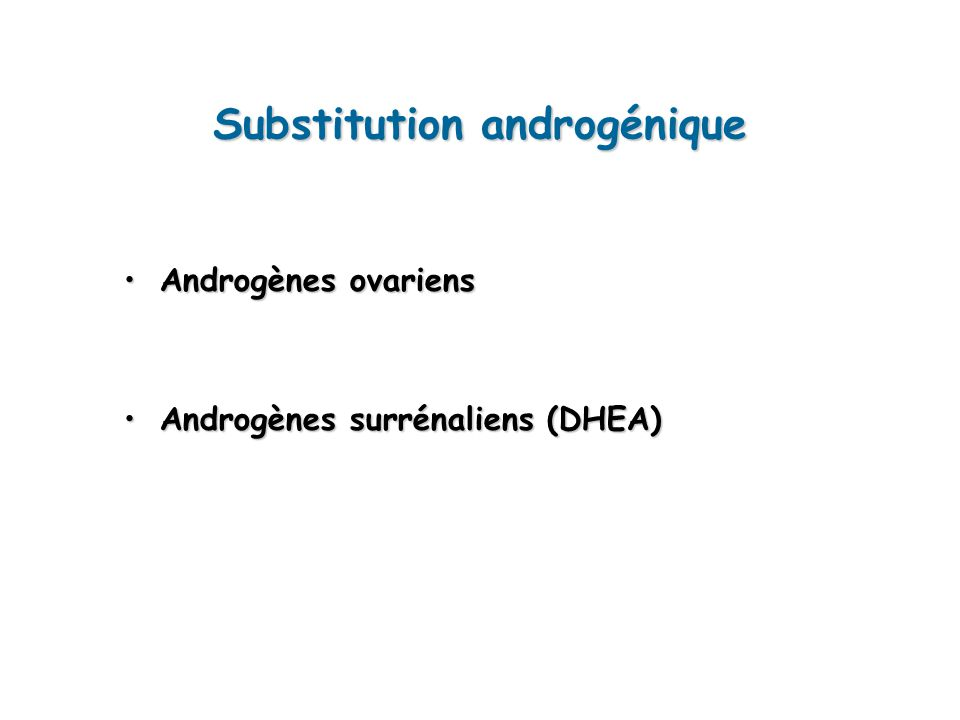 Substitution androgénique