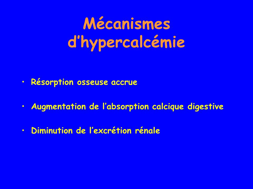 Mécanismes d'hypercalcémie