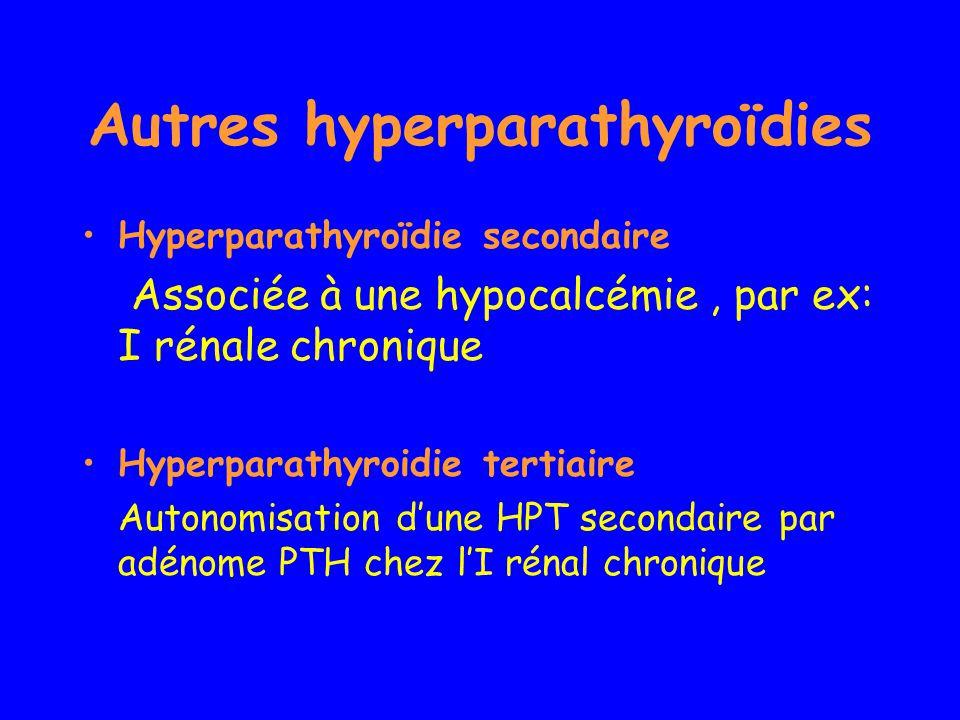 Autres hyperparathyroïdies