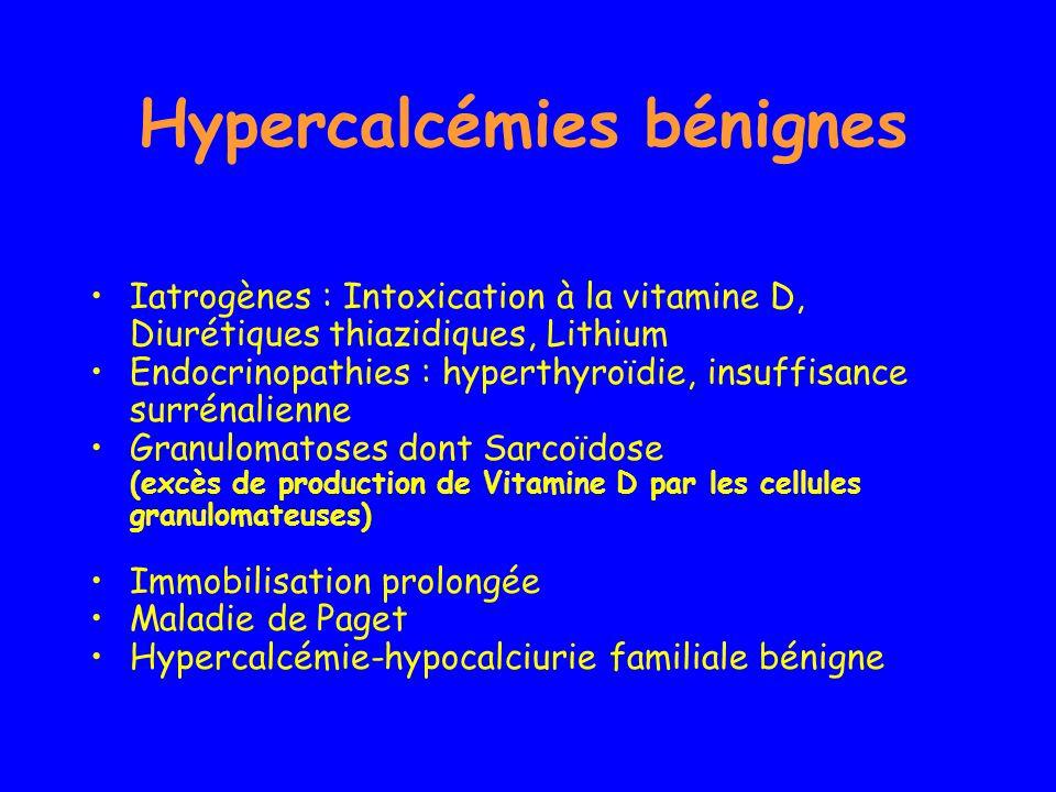 Hypercalcémies bénignes