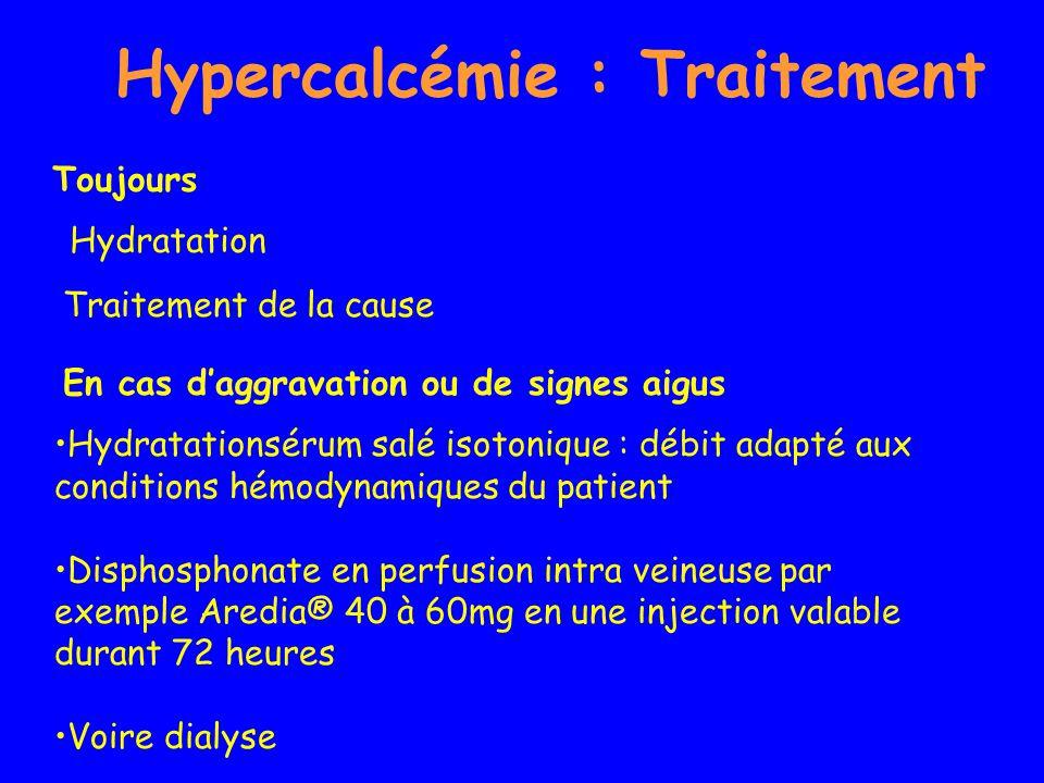 Hypercalcémie : Traitement