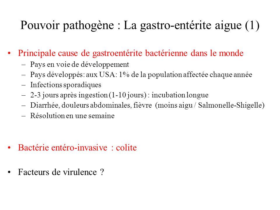 Pouvoir pathogène : La gastro-entérite aigue (1)