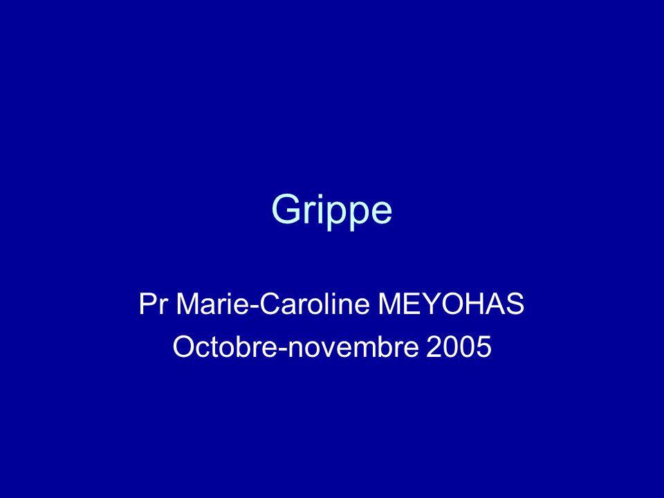 Pr Marie-Caroline MEYOHAS Octobre-novembre 2005