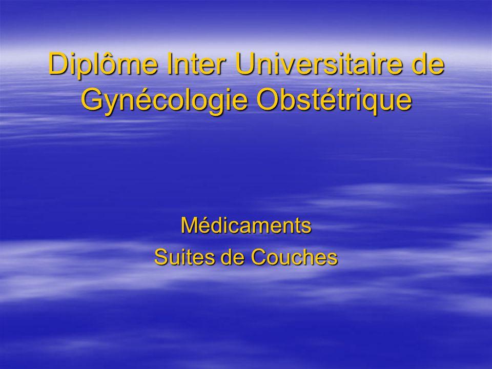 Diplôme Inter Universitaire de Gynécologie Obstétrique