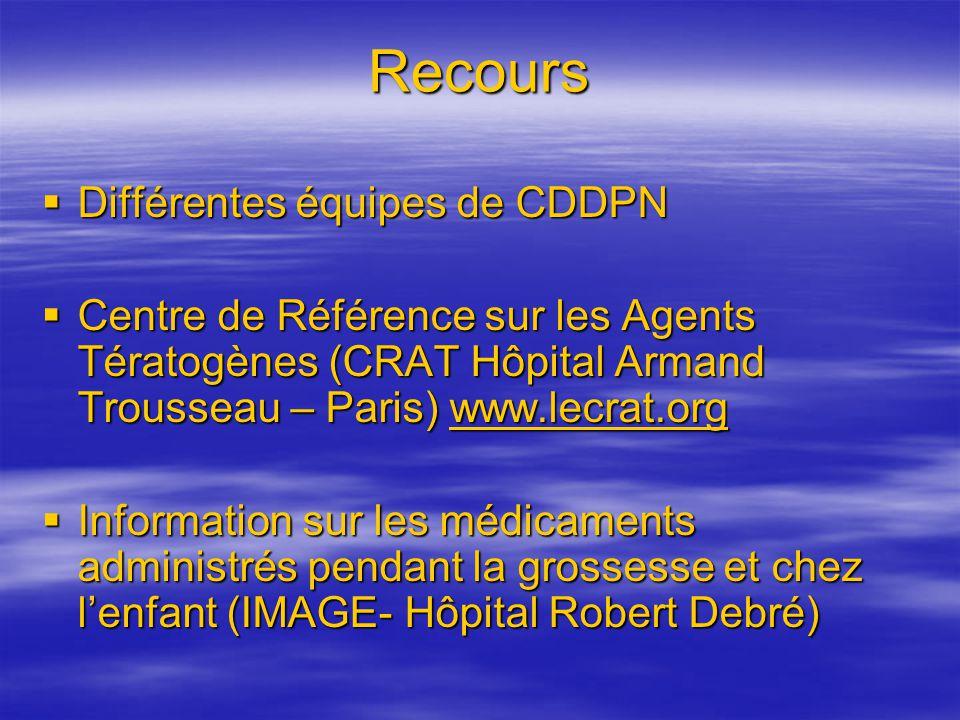 Recours Différentes équipes de CDDPN