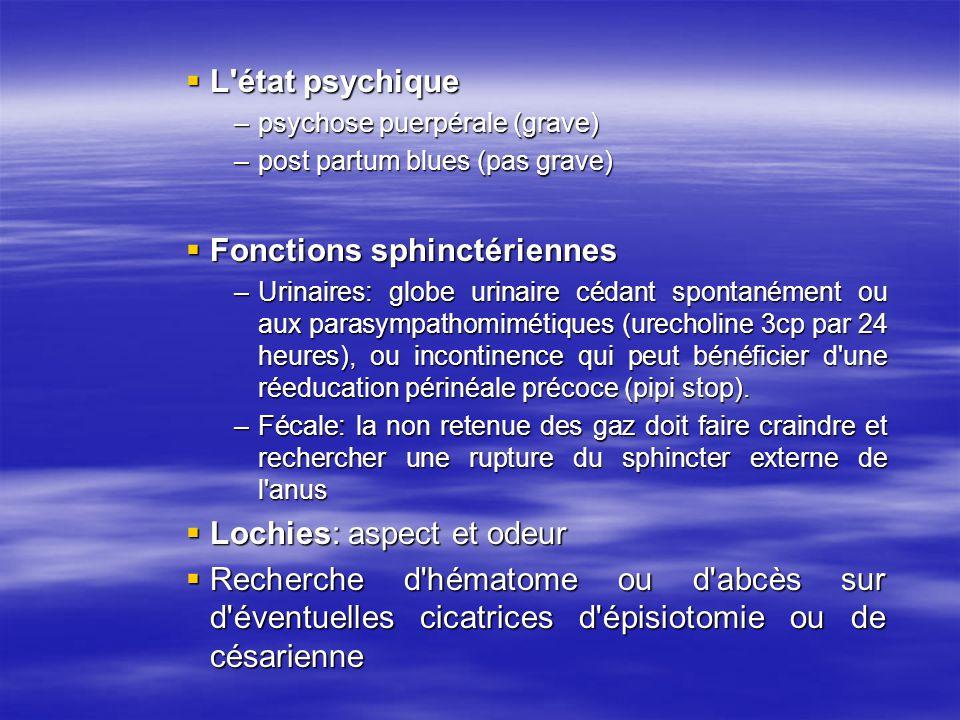 Fonctions sphinctériennes