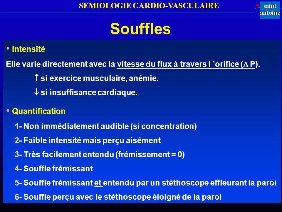 Souffles • Intensité • Quantification