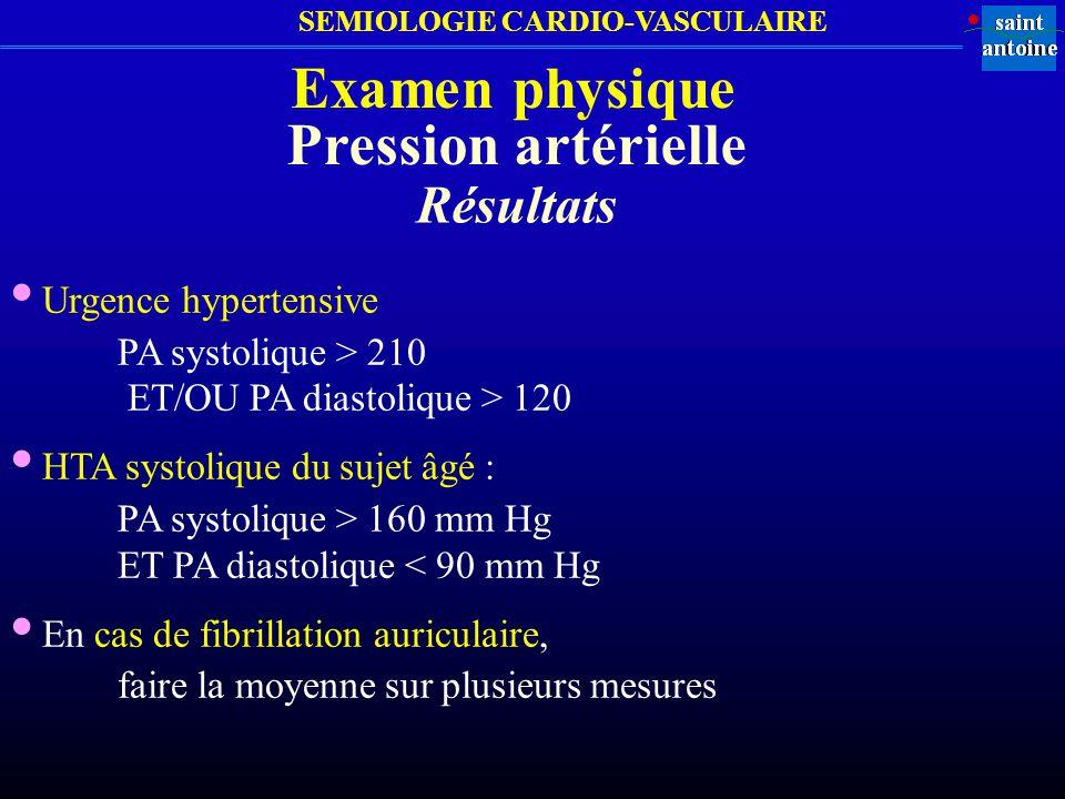 • Urgence hypertensive • HTA systolique du sujet âgé :