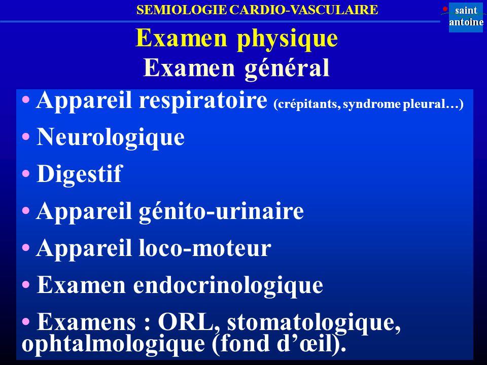 Examen physique Examen général