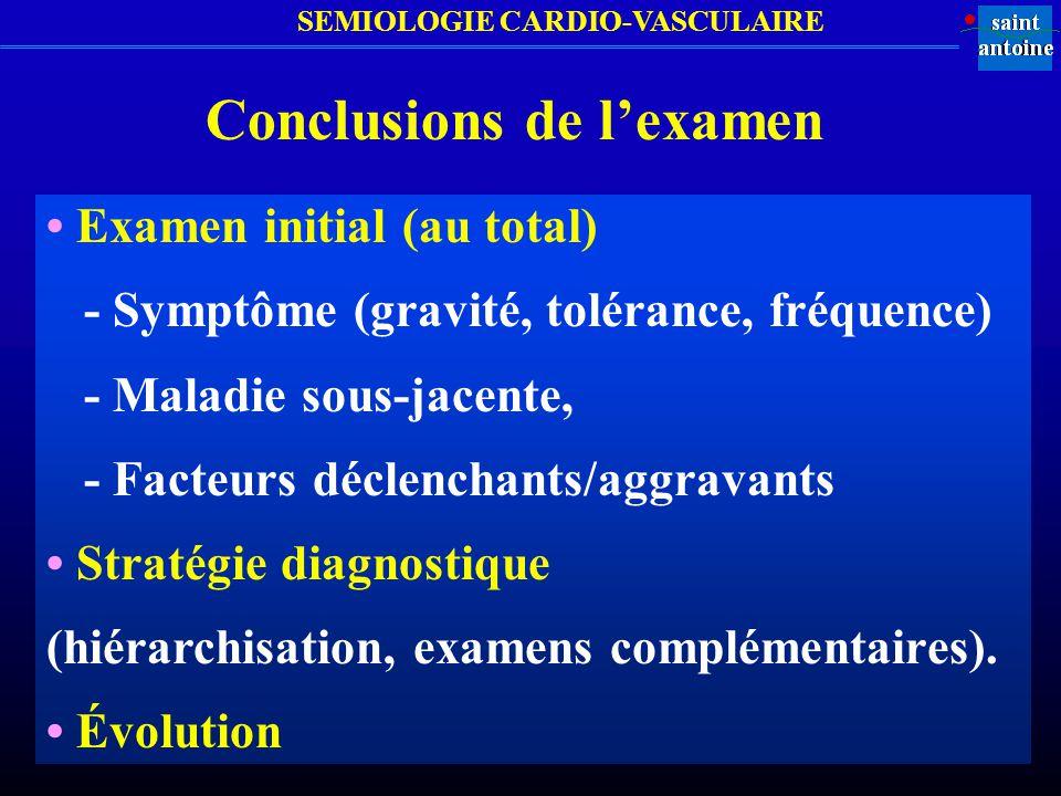Conclusions de l'examen